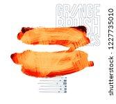 orange brush stroke and texture....   Shutterstock .eps vector #1227735010