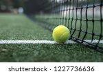 yellow tennis ball at the net... | Shutterstock . vector #1227736636