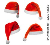 collection of four santa hats ... | Shutterstock . vector #122773669