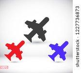 aircraft vector icon | Shutterstock .eps vector #1227736873