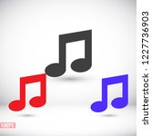 music vector icon | Shutterstock .eps vector #1227736903