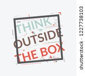 think out of the box text... | Shutterstock .eps vector #1227738103