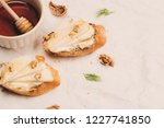 appetizer bruschetta with apple ... | Shutterstock . vector #1227741850