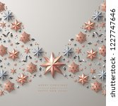 christmas background with ... | Shutterstock .eps vector #1227747646