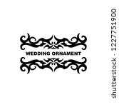 wedding ornament vector...   Shutterstock .eps vector #1227751900