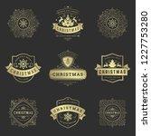 merry christmas retro... | Shutterstock .eps vector #1227753280