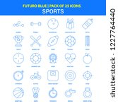 sports icons   futuro blue 25... | Shutterstock .eps vector #1227764440