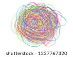 colorful tangled on white.... | Shutterstock . vector #1227767320