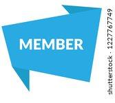 member sign label. member... | Shutterstock .eps vector #1227767749