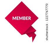 member sign label. member... | Shutterstock .eps vector #1227767770