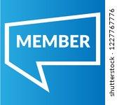 member sign label. member... | Shutterstock .eps vector #1227767776