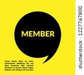 member sign label. member... | Shutterstock .eps vector #1227767800