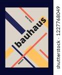 bauhaus poster design retro... | Shutterstock .eps vector #1227768049