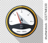 ammeter icon in flat style with ... | Shutterstock .eps vector #1227768133