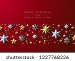 red christmas background with... | Shutterstock .eps vector #1227768226