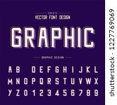 font and alphabet vector ... | Shutterstock .eps vector #1227769069