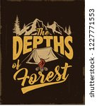 camping. wilderness camp. be... | Shutterstock .eps vector #1227771553