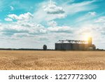 new grain elevator on the... | Shutterstock . vector #1227772300