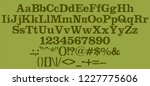 handrawn green font. retro... | Shutterstock .eps vector #1227775606