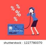 credit card  female cardholder... | Shutterstock .eps vector #1227780370