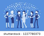 wedding ceremony  newlywed ... | Shutterstock .eps vector #1227780373