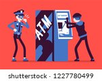 atm hacking crime. automated... | Shutterstock .eps vector #1227780499