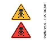 danger vector sign. skull and... | Shutterstock .eps vector #1227783589