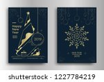 new year greeting card design... | Shutterstock .eps vector #1227784219
