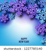 merry christmas  greeting... | Shutterstock .eps vector #1227785140