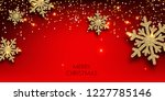 merry christmas  greeting... | Shutterstock .eps vector #1227785146
