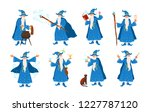 collection of old wizard making ... | Shutterstock .eps vector #1227787120