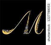 gold letter m  isolated on... | Shutterstock . vector #1227788053