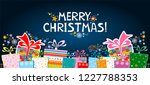 marry christmas  celebration... | Shutterstock .eps vector #1227788353