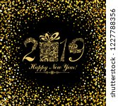 happy new year 2019  vintage... | Shutterstock .eps vector #1227788356