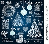 christmas decoration set   lots ... | Shutterstock .eps vector #1227788740