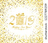 happy new year 2019  vintage... | Shutterstock .eps vector #1227789259