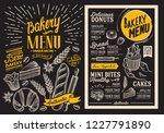 bakery dessert menu for... | Shutterstock .eps vector #1227791890