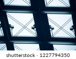 glass ceiling with metal... | Shutterstock . vector #1227794350