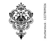 vector damask element. isolated ... | Shutterstock .eps vector #1227809026