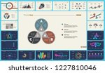 set of analysis or statistics... | Shutterstock .eps vector #1227810046