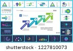set of accounting or statistics ... | Shutterstock .eps vector #1227810073
