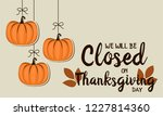 thanksgiving card  we will be... | Shutterstock .eps vector #1227814360