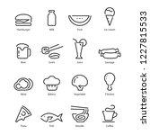 food icon  vector | Shutterstock .eps vector #1227815533