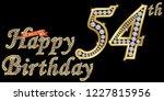 54 years happy birthday golden... | Shutterstock .eps vector #1227815956