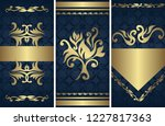 set of three vector floral... | Shutterstock .eps vector #1227817363
