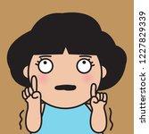 girl is terrified  trembling... | Shutterstock .eps vector #1227829339