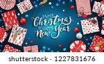 merry christmas and happy new... | Shutterstock .eps vector #1227831676