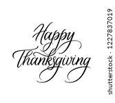 happy thanksgiving expressive... | Shutterstock .eps vector #1227837019