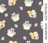 seamless pattern with adorable... | Shutterstock .eps vector #1227837613