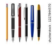 set of pens vector design | Shutterstock .eps vector #1227844570